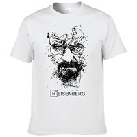 2017 New Fashion Breaking Bad T Shirts Men Heisenberg Camisetas Hombre Men Cool Tee Shirt Tops