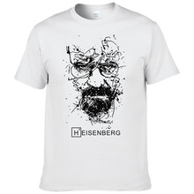 2017 Nueva Moda Heisenberg Breaking Bad Camisetas Hombre Camisetas Hombre Hombres Fresco Tee Shirt Tops Manga Corta de Algodón Camisetas #191