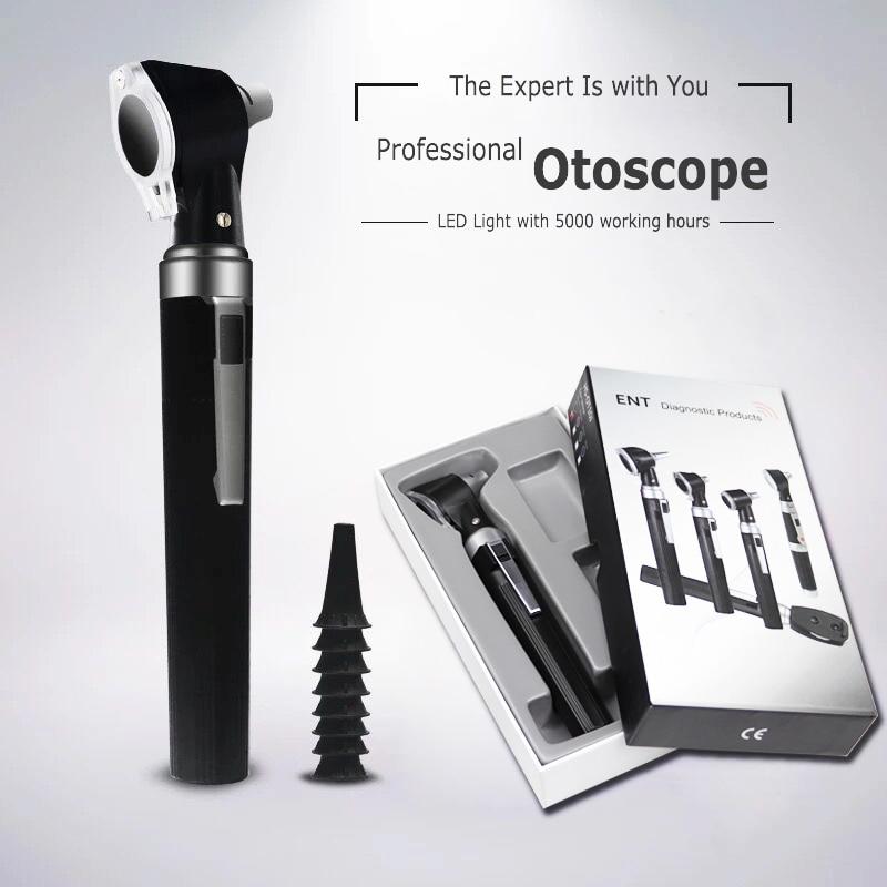 Medical CE Professional ENT Diagnostic Kit Borescope Portable Endoscope LED Otoscopio Direct Otoscope Ear Care Check ToolEar Care   -
