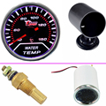 "EE apoyo Car Motor Universal Smoke Len 2 ""52mm de Agua medidor de Temperatura Medidor + 52mm Negro Pod titular XY01"