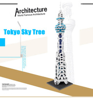 New Tokyo Tower Japan Sky Tree Loz World Famous Architecture Nanoblock Mini Diamond Building Block 3D