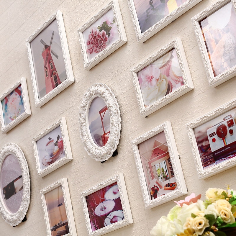 13pcs wood picture wall cadre collage photo frame baroque 13pcs wood picture wall cadre collage photo frame baroque decorative romantic vintage set for wedding decoration fashion new in frame from home garden on junglespirit Image collections