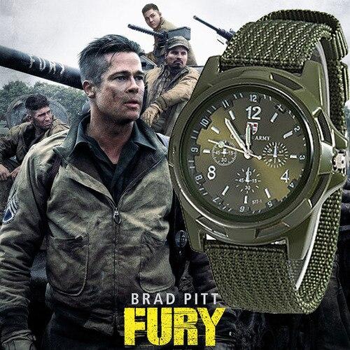 Nouveau hommes armée militaire Bomber pilote toile sangle Sport hommes garçon Quartz montre-bracelet analogique hommes robe Sport montres reloj