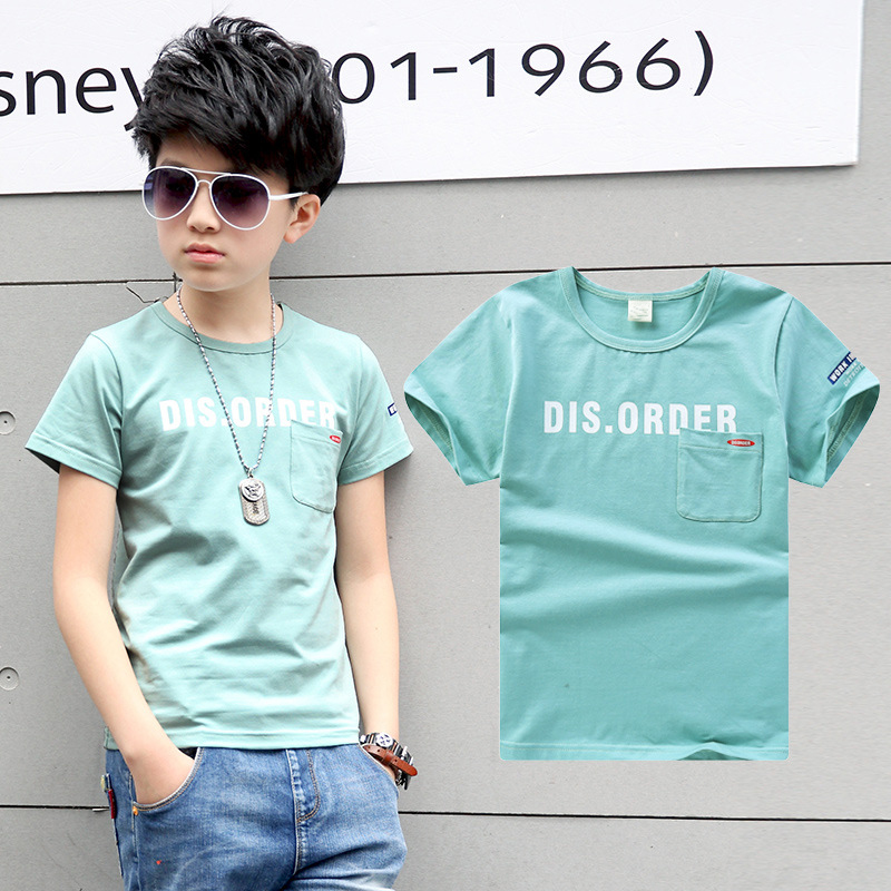 06bc1a1a5163b2 4Y 16Y Kids Clothes Boys Summer Kids Tops For Boys Fake Designer Clothing T  Shirt For Boy Sport Pure Cotton T shirt Child -in T-Shirts from Mother    Kids on ...