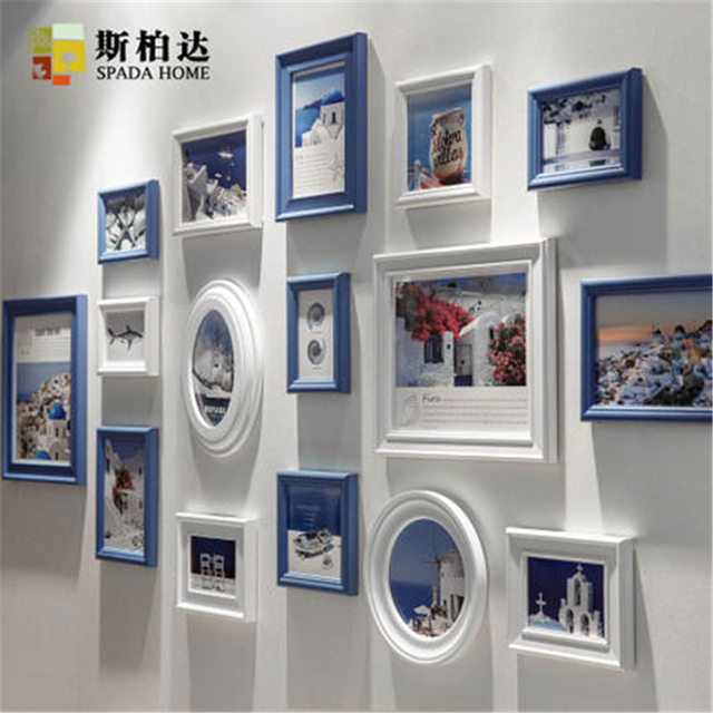 Aliexpress.Com : Buy Home Decor Wood Photo Frame Set Wall Hanging