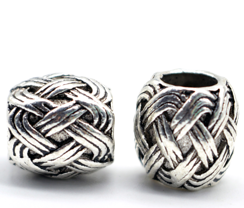 1pc High Quality Antique Silver Knots Viking Runes Charms Beads for Bracelets for Pendant Necklace DIY for Beard Hair Beads C34 1pc unique personalized viking thor s hammer beads choker necklace with 5 viking rune beads diy available