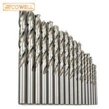 цена на 10pcs/box Top Quality HSS M2(6542#) Twist Drill Bits For Metal working,DIN338 Fully Ground Industrial drill bits 3mm -13mm