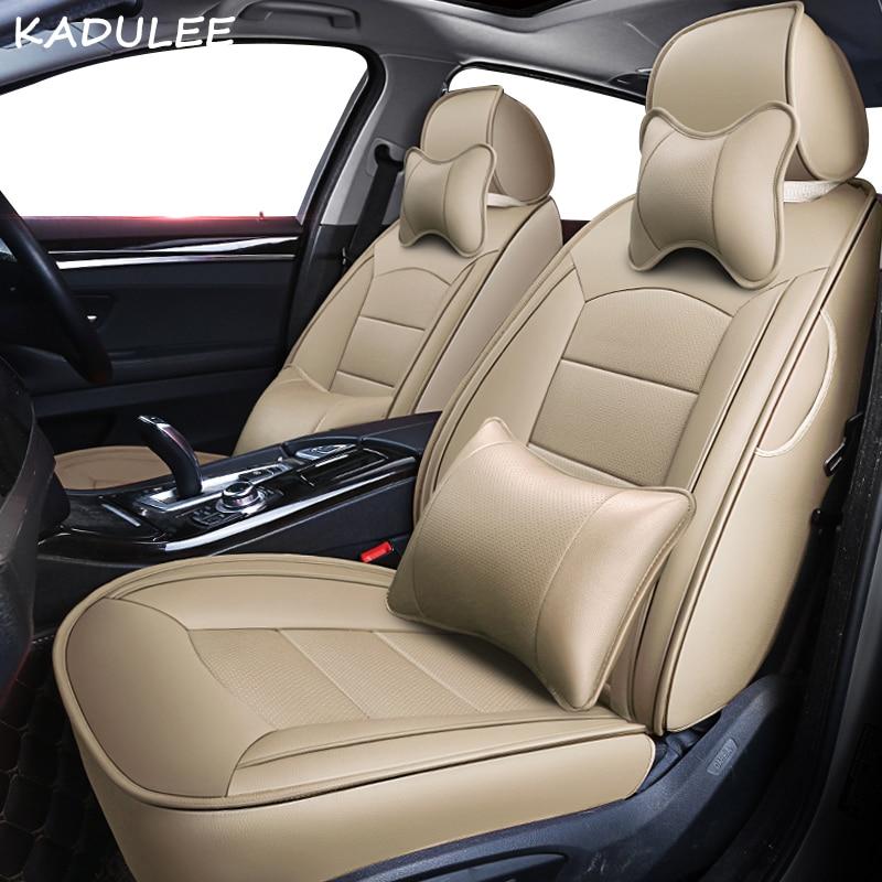 KADULEE custom real leather car seat cover for Toyota 86 Alphard PRADO RAV4 Fj CRUISER LAND
