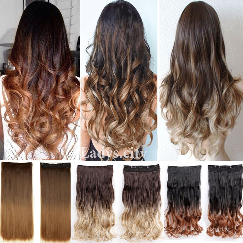 Aliexpress Com Buy New Ombre Hair Clip In Hair