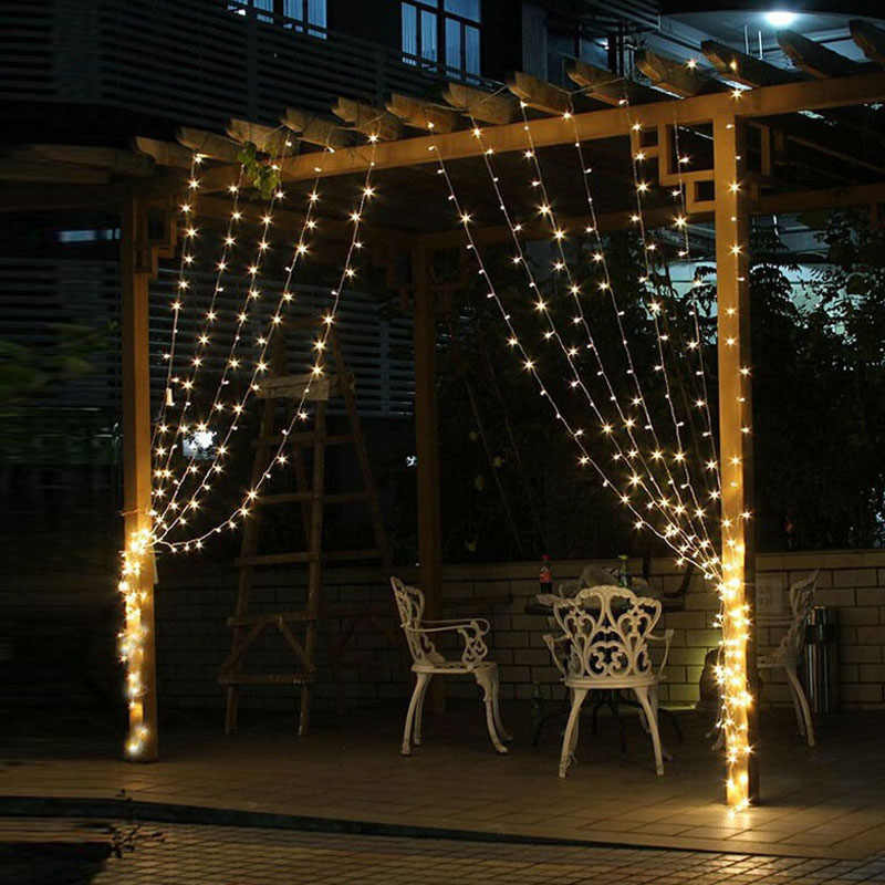 3Mx3M LED Icicle Curtain String Lights Fairy XMAS Light 300 luces Christmas String Light for Party Home Garland Holiday Lights