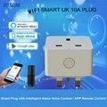 Стандарт Великобритании заземление домашней автоматизации пульт дистанционного управления Розетка WiFi умная вилка поддержка Amazon Alexa Голос...