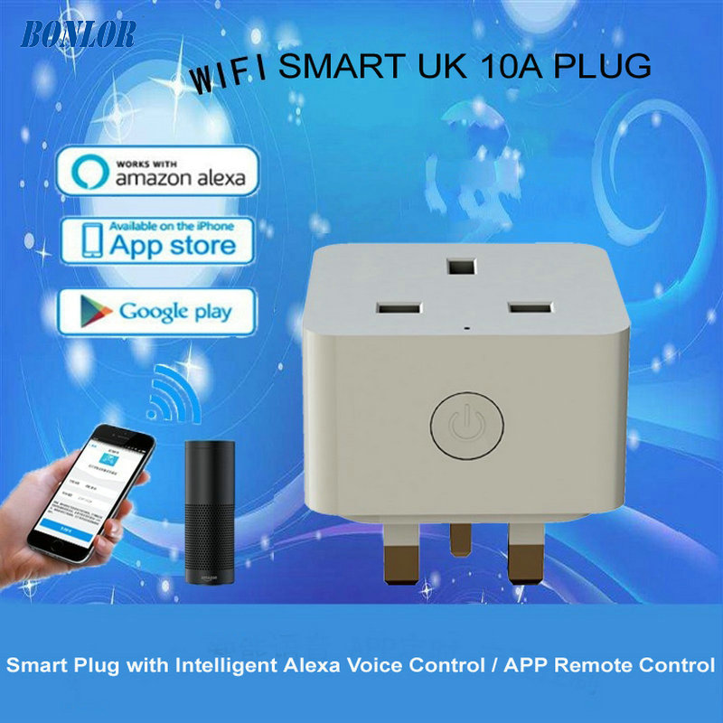 UK Standard Grounding Home Automation Remote Control Socket WiFi Smart Plug Support Amazon Alexa Voice Control Womo Smart APPUK Standard Grounding Home Automation Remote Control Socket WiFi Smart Plug Support Amazon Alexa Voice Control Womo Smart APP