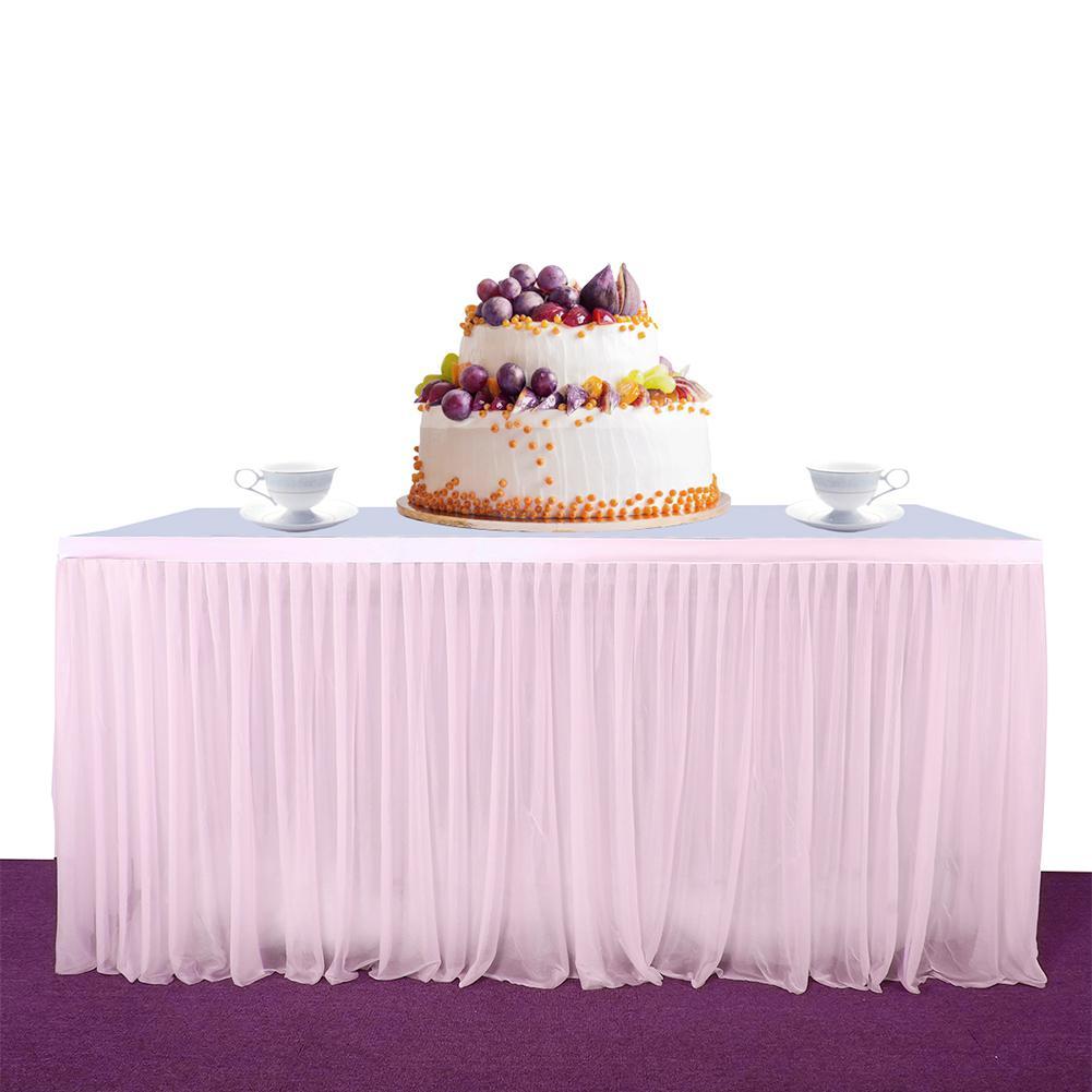 Stipt Adeeing High-end Stretch Garen Elegante Mesh Pluizige Tutu Tafel Rok Voor Party Wedding Birthday Party Home Decoration Kortingen Sale