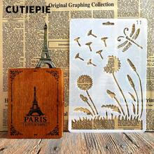 Dragonfly Dandelion Stencils For Painting Scrapbooking Stamp Cake Decorating Tool Embossing Paper Cards Album DIY Decoration