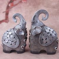 Домашние практичные счастливые коровы китайские высококачественные украшения абстрактные китайские смолы фигурки животных украшения дом