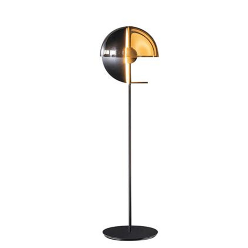 Lights & Lighting Post-modern Designer Black Iron Glass Floor Lamp For Living Room Bedroom Hotel Deco Nordic Lighting H 155cm 110/220v 2307
