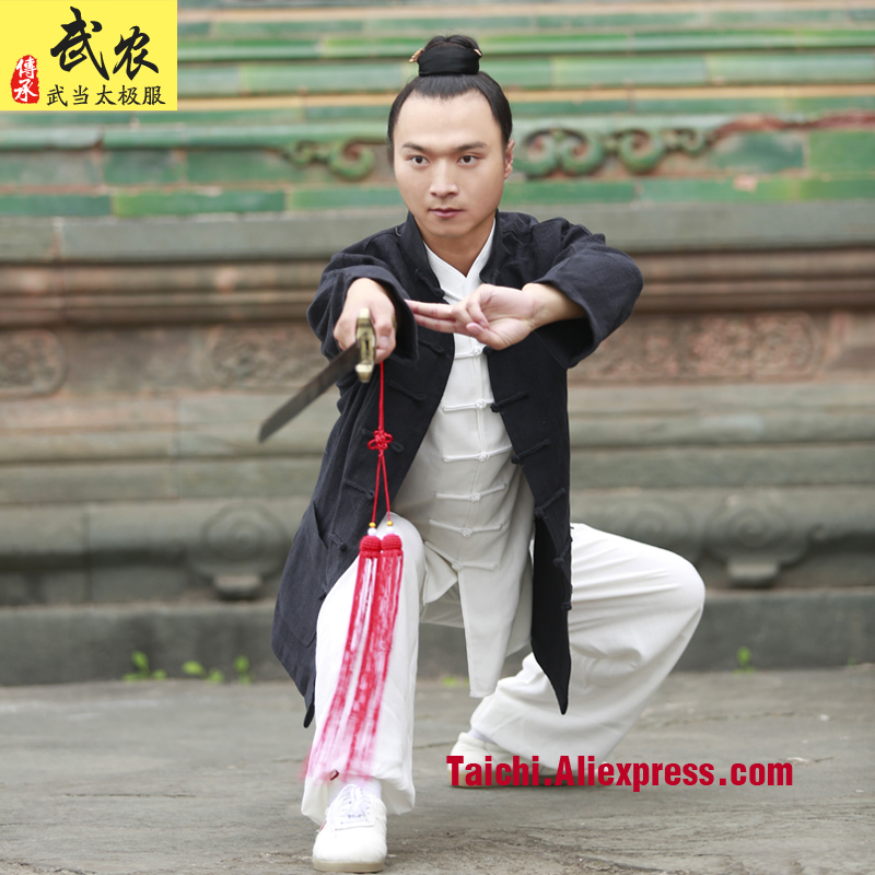 Handmade Linen Tai Chi Uniform Kung Fu martial Art Suit Wing Chun Uniform Chinese Stlye Clothes three Pieces Jacket shirt pants china tang dress for men bruce lee shirt tai chi martial art clothing kung fu clothes tangzhuang jacket