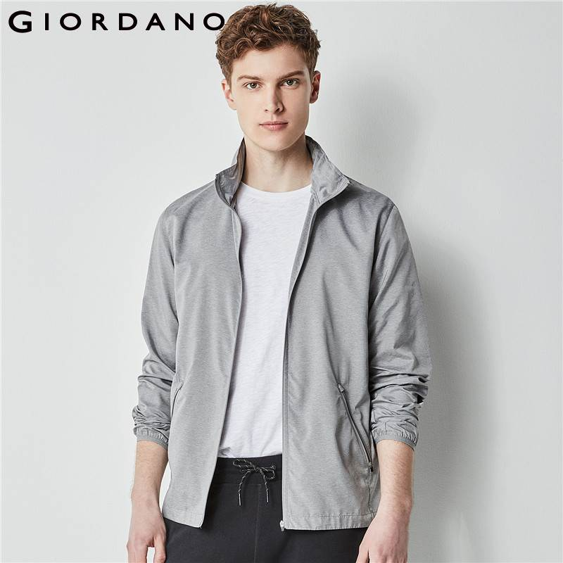 Giordano Men Windbreaker Packable Hooded Jacket Men Printed Letter Casual Homme Jacket Jaqueta Masculina Male Clothes