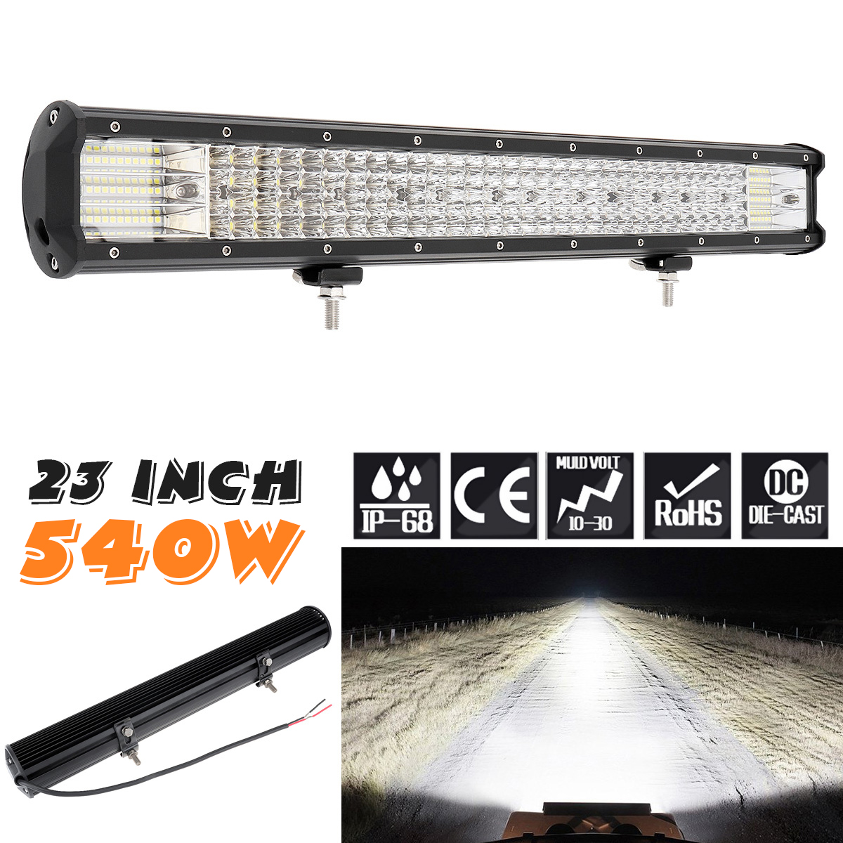 540W 180Pcs LED Strip LED Light Bar Work Light Combo Beam for Driving Offroad Boat Car Tractor Truck 4x4 SUV-in Car Headlight Bulbs(LED) from Automobiles & Motorcycles