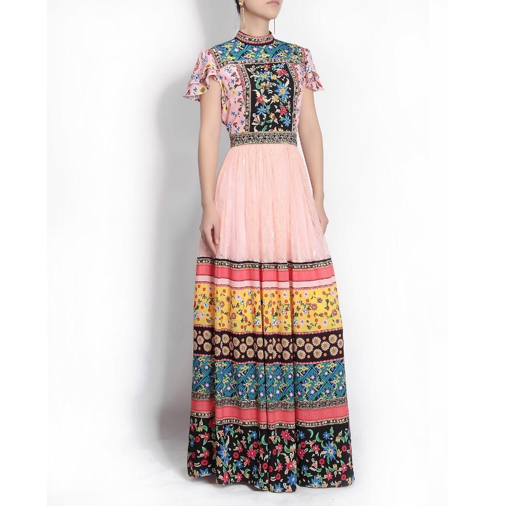 Здесь продается  High quality 2018 runway Maxi Dress Women