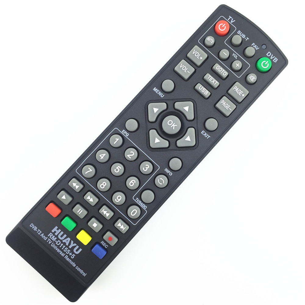UNIVERSAL tv remote control controller dvb-t2 remote rm-d1155 sat Satellite television receiver [genuine] freesat v8 golden dvb s2 t2 c satellite tv combo receiver support powervu biss key cccamd newcamd n usb wifi optional
