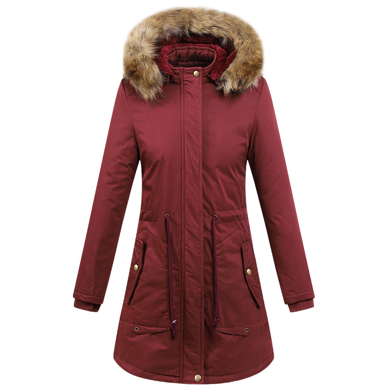 Upgraded Women's Winter Jacket Outdoor Camping Hiking Long Ultralight Thickness Warm Hooded Skiing Coat Female Snow Overcoat
