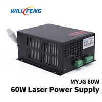 Will Feng MYJG 60w Co2 Laser Power Supply For Co2 Cutter Engraving Machine 60w Co2 Laser Box Use For Laser Tube
