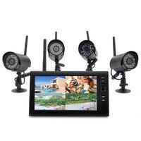 2.4 グラム 4ch クワッド dvr セキュリティ cctv カメラ システム デジタル ワイヤレス キット ベビー モニター 7