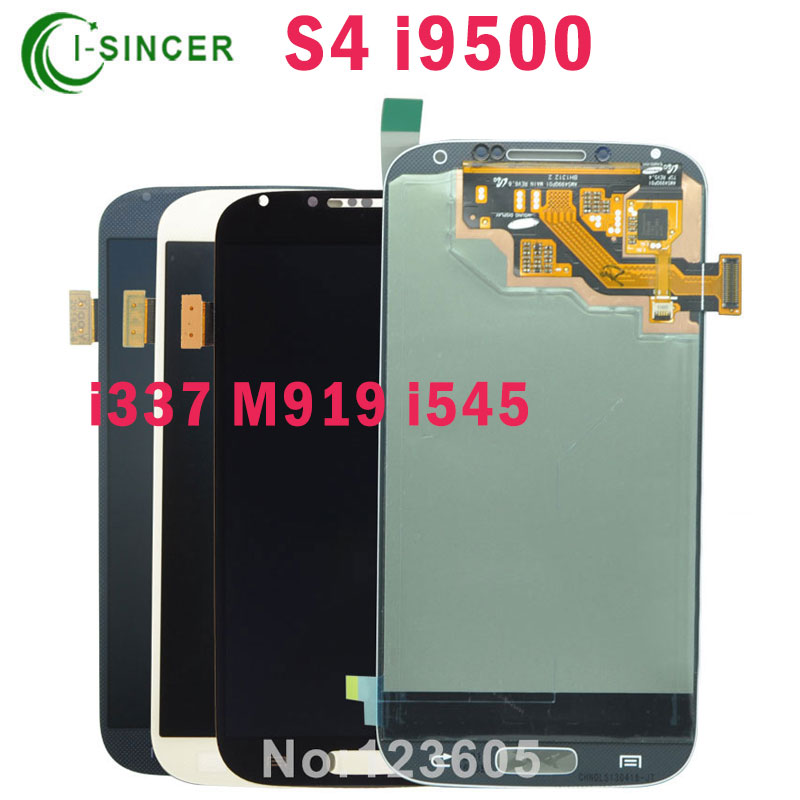 ФОТО DHL 10PCS/LOT For Samsung for Galaxy S4 LCD Display Touch Screen Replacement Digitizer Assembly i9500 i9505 i337 M919 i545 lcd