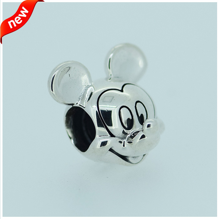 2015 Fashion Autentic 925 Sterling Silver Mouse Charm Beads for DIY Making Jewelry Europ ...