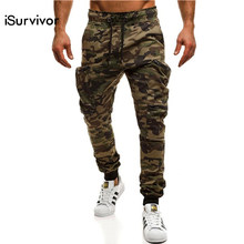 iSurvivor 2019 Men Spring Autumn Cargo Pants Trousers Male Casual Fashion  Slim Fit Large Size Pencil Pants Sweatpants Hombre 2bd0d395f1c7