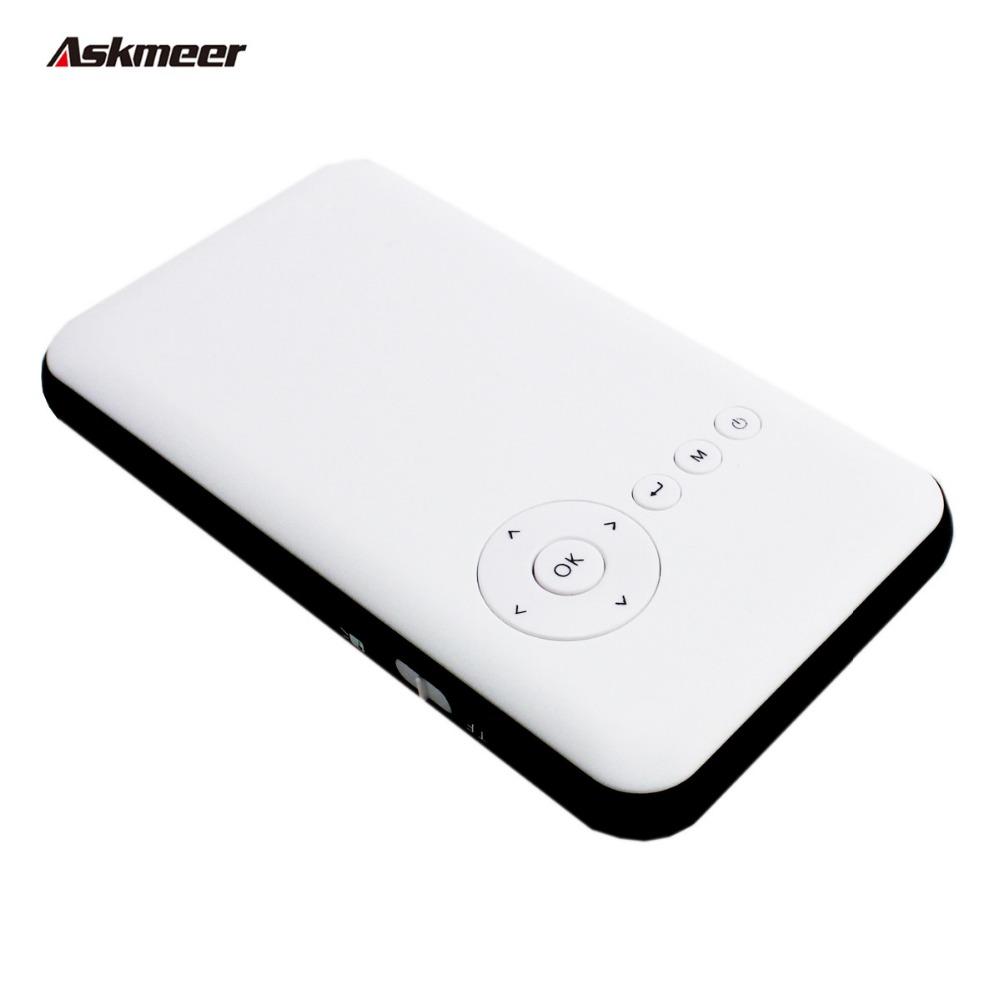 Prix pour Askmeer Mini Téléphone Projecteur Wifi Intelligent Projecteur DLP Full HD Proyectors Bluetooth Projecteur HDMI/USB pour les Entreprises/Maison théâtre