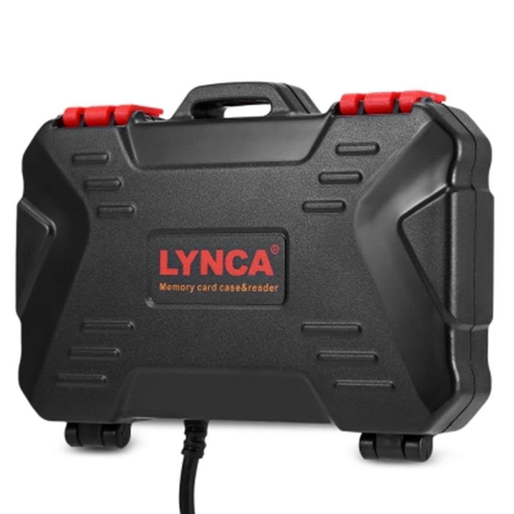 LYNCA 2 en 1 USB3.0 5 Gbps lector de tarjeta 9 unids MSD + 7 unids tarjetas SD, lector de tarjeta de memoria para CF SD TF caja de la tarjeta de almacenamiento