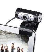 Высокое разрешение 1280*720 720 P пикселей 4 светодиодный HD Веб-камеры веб-Камера с Ночные светильники веб-камера микрофон клип- на для компьютера