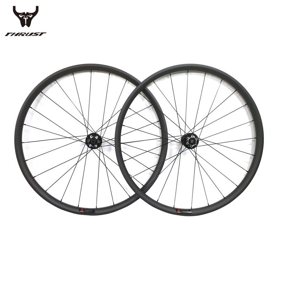 Bicicleta de Montaña bicicleta carbono Clincher ruedas mtb 29er ancho 27mm 30mm 35mm 40mm disco freno bicicleta llanta juego de ruedas