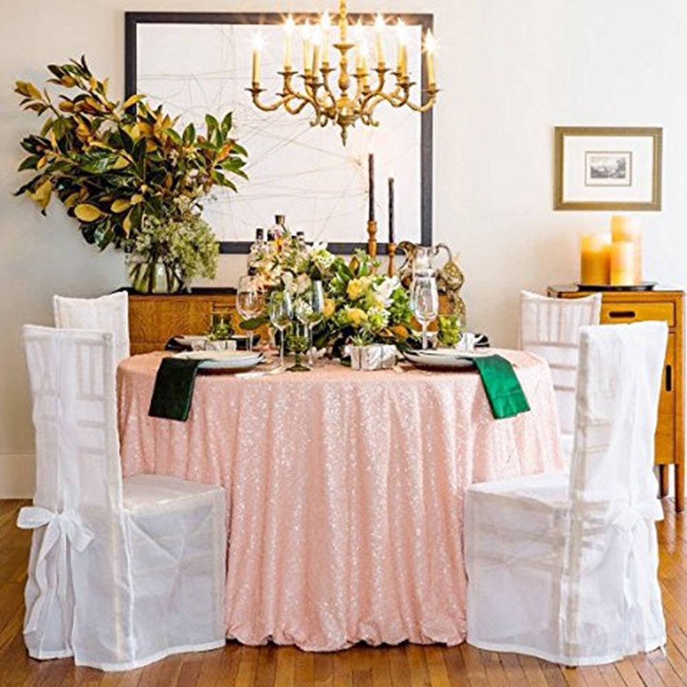 96 inch round tablecloth - Sequin Tablecloth Wedding Cake Tablecloth Sequin Table Cloth For Wedding Event Party