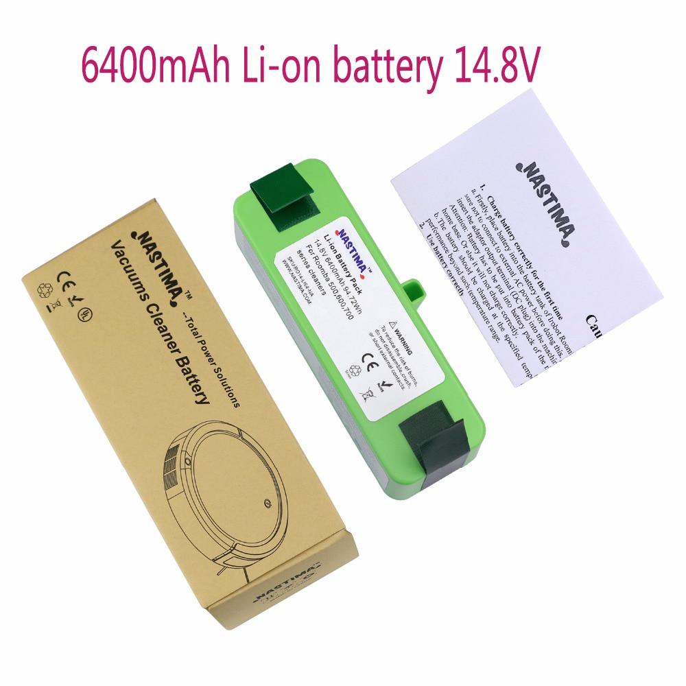 NASTIMA 14.8v 6400mAh Lithium Battery For iRobot Roomba Cleaner 500, 600, 700, 800, 980 Series -600 620 650 700 770 780 800 880 цена