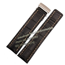 Wholesale Brand style Watch Band Strap 22mm 24mm Leather Watchband Accessories Black Brown Blue men Watches