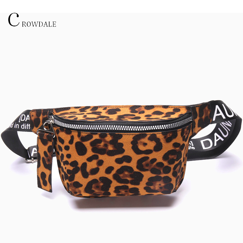 CROWDALE Women Waist Bag Fanny Pack Fashion Leopard Print Chest Bag Street Shoulder Bag Waist Bag Female Shoulder 2019 Hot Sale