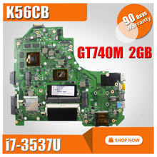 For ASUS VivoBook K56CB Laptop Motherboard K56CM rev 2 0 with i7 3537u cpu GM Mainboard