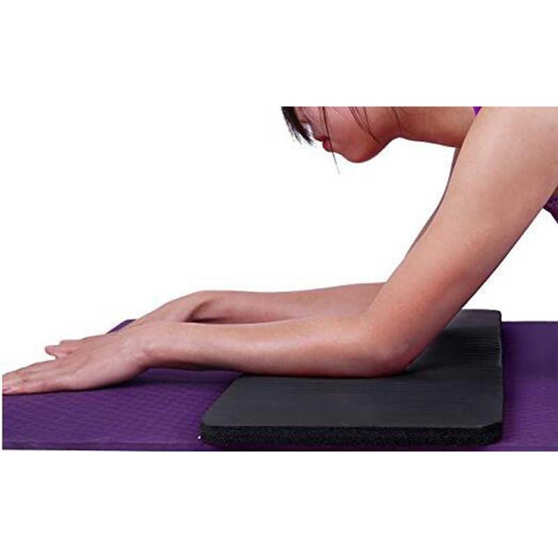 Alfombra de entrenamiento de Pilates gruesa 60X25X1,5 Cm cojín de rodilla de Yoga soporte Extra para las rodillas muñecas codos