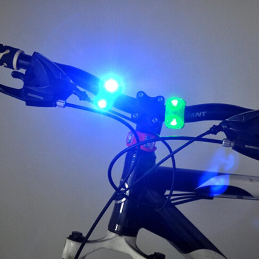 Bicycle Bike Silicone Frog Light Green White LED Front//Rear Wheel Warning Lamp
