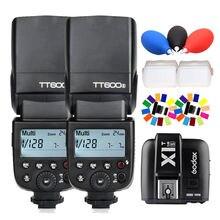 2x GODOX TT600S Flash Light Speedlite 2.4G Wireless X System +X1T-S Trigger for Sony DSLR Camera A7S A7 A7R II A7MII A6000 A6300