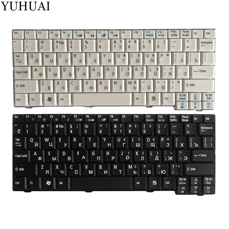 Russian Keyboard for Acer Aspire One ZG5 D150 D210 D250 A110 A150 A150L ZA8 ZG8 KAV60 Emachines EM250 RU keyboard клавиатура topon top 73401 для acer aspire one a110 a110x 110l 150 a150x 150l zg5 series d250 series white