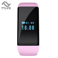 TTLIFE Original D21 Heart Rate Monitor Smartband Waterproof Swim Smart Band Bracelet Health Fitness Tracker for Android and iOS