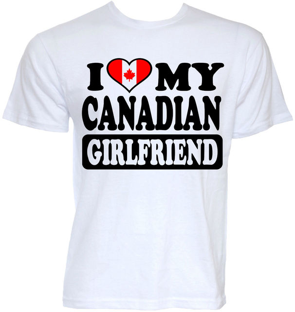 MENS FUNNY COOL NOVELTY CANADIAN GIRLFRIEND CANADA FLAG JOKE RUDE ...