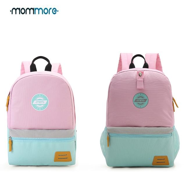 mommore Kids Backpack for Kindergarten Different Size Canvas School bag for Boys  Girls Bag for Picnic Cute Lunch Bag For Kids 116b3efeec7d2