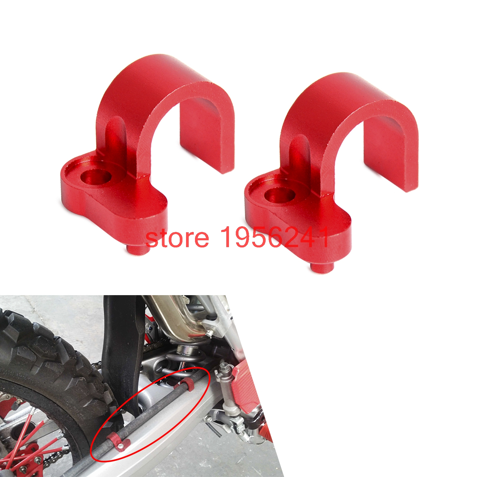 CNC Rear Brake Line Hose Clamp Holder For Honda CRF250L CRF250M 2012 - 2015 2013 2014 CRF250 L/M neo chrome rear lower control arm lca for honda civic 2001 2005 e2c