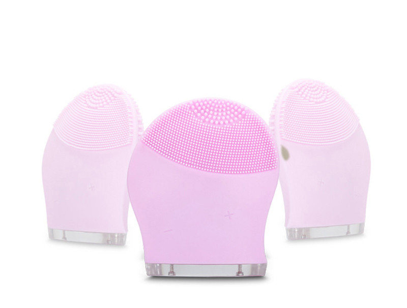 Electric Face Cleanser Vibrate Waterproof Silicone Cleansing Brush Massager Facial Vibration Skin Care Spa Massage