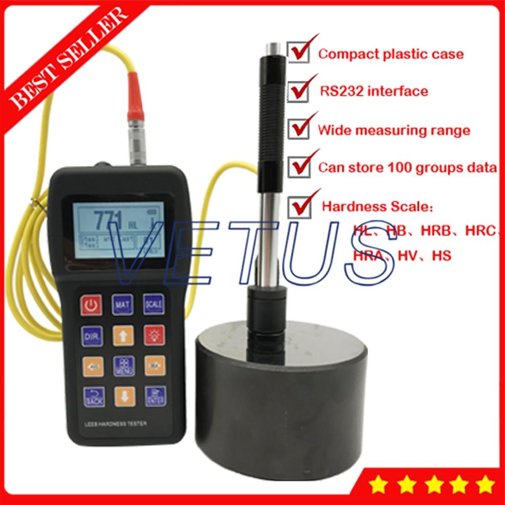 LCD Digital Display Leeb Hardness Tester Can storage 100 groups Data Durometer Hardness Meter Gauge VTS